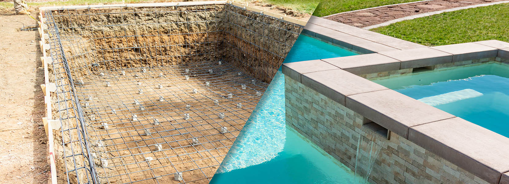 Swimming Pool Construction Before and after