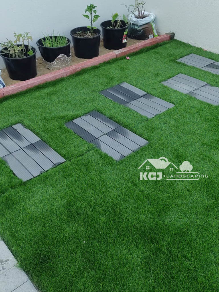 Artificial grass installation Dubai