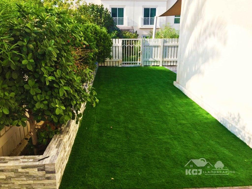 Installation of Artificial grass for villa