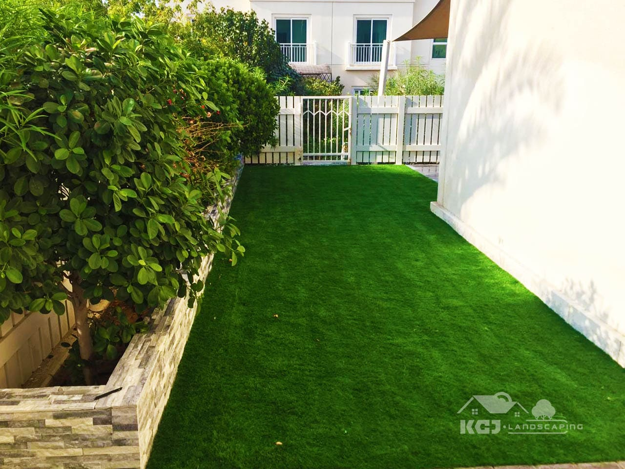 Installation of Artificial grass for villa