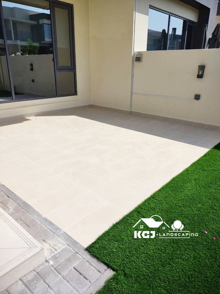 Installation of Tiles and Artificial Grass Dubai 2
