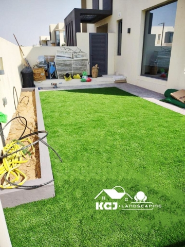 Installation of Tiles and Artificial Grass Dubai 3
